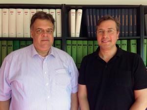 GDD-Geschäftsführer Andreas Jaspers und Datenschutzexperte Peter Suhling