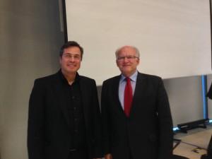 Datenschutzexperte Peter Suhling (Teilnehmer) und Keynotespeaker Peter Schaar