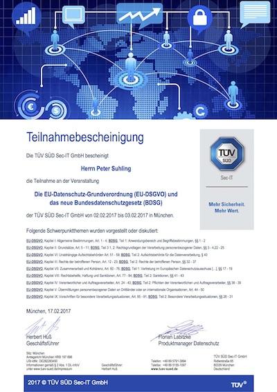 TÜV SÜD Datenschutz-Erfa in München