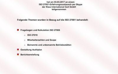 Erfahrungsaustausch für ISO 27001 Auditoren