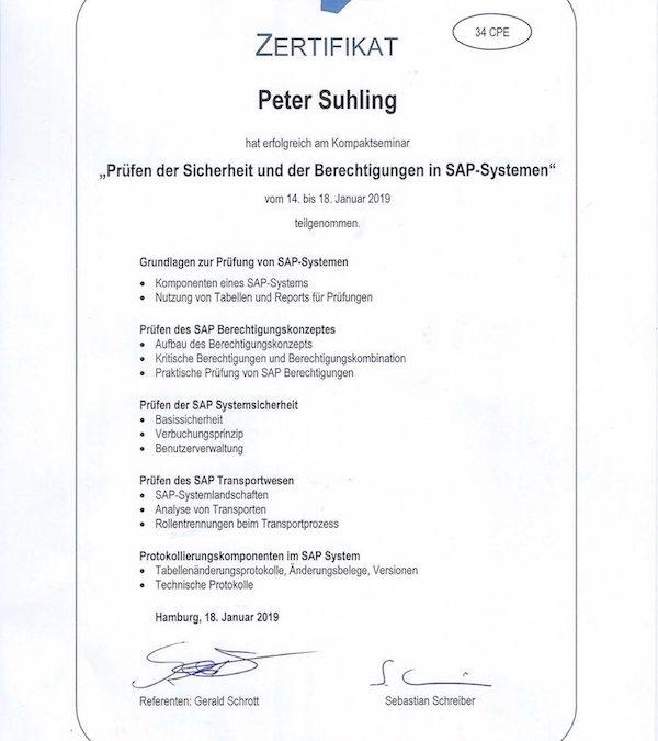 Zertifikatskurs Prüfen der Sicherheit und Berechtigungen in SAP-Systemen in Hamburg
