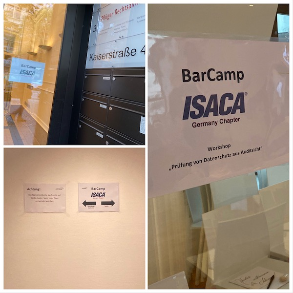 BarCamp der Fachgruppe IT-Revision von ISACA Germany in Frankfurt