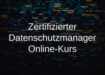 Zertifizierter Datenschutzmanager