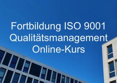 Fortbildung ISO 9001 Qualitätsmanagement Online-Fortbildung